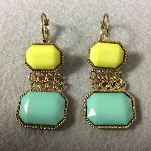 Jewelry - NWT Blue and Yellow Earrings Pierced